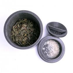 Boîte à thé PLA noir métallisé